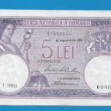 5 lei 1929 aUNC 3