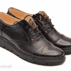Pantofi dama negri casual-eleganti din piele naturala cod P32 - Made in Romania