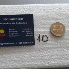 Set moneda bimetalica UNC Columbia 500 pesos 2006 numismatica bani vechi monede, America Centrala si de Sud
