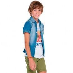 Camasa blugi baieti 6130 (Culoare: albastru, Imbracaminte pentru varsta: 16 ani - 160 cm)