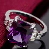 Inel cubic cristal suflat argint - Inel argint