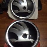 Embleme noi Skoda capota si portbagaj, originale, 80mm si 90 de mm - Embleme auto