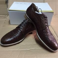 Pantofi PIELE NATURALA andre marime 45 maro - Pantofi barbati
