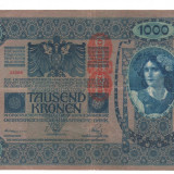 Bancnota Straine, Europa, An: 1902 - SV * Austria Ungaria 1000 KRONEN / COROANE 1902-1919 DeutschOstereich VF