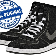 Adidasi dama Nike Air Scandal Mid - adidasi originali - ghete panza, Marime: 38, 37.5, Culoare: Negru, Textil