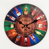 Ceas de perete din lemn - Whiskey - Produs Nou - LICHIDARE DE STOC