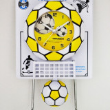 Ceas cu pendula pentru copii - Fotbal - Produs Nou - LICHIDARE DE STOC
