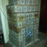 Soba teracota colorata pentru gaz cu arzator automat