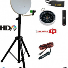 Antena tv rulota - camping cu trepied