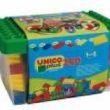 Set constructie Unico Plus Galeata cu 250 de piese - Jocuri Seturi constructie