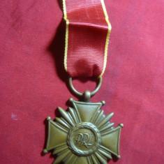 Crucea de Merit PRL Polonia, cl.III, bronz, panglica noua - Ordin