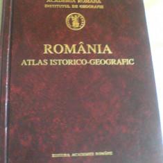 Atlas Istorico-Geografic Romania Academia Romana 1996 ISBN 973-27-0500-0 - Carte Geografie