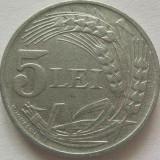 Moneda 5 Lei- 1942 zinc - ROMANIA *cod 4028 - Moneda Romania