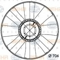Paleta ventilator, racire motor DAF 85 CF FA 85 CF 340 - HELLA 8MV 376 728-771 - Ventilatoare auto