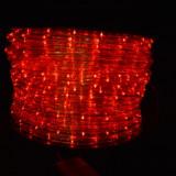 Rola furtun luminos LED ROSU 100m + alimentator inclus / Rola Led