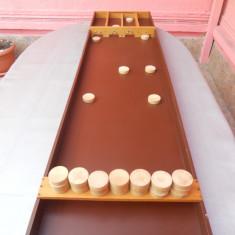 Masă JOC Shuffleboard (Sjoelbak) Joc interactiv din lemn. - Jucarie interactiva