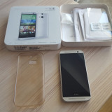 Telefon mobil HTC One M8, 16 GB, 4G, Silver + Folie sticla + Husa, Garantie 1 an