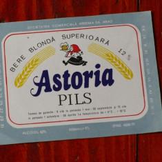 Eticheta de bere / Bere Astoria - perioada anilor 90 !