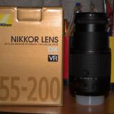 Vând obiectiv Nikkor AF-S DX 55-200MM f/4-5, 6G ED VR II - Obiectiv DSLR Nikon