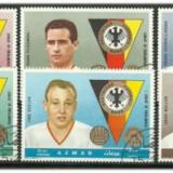 Ajman 1969 - echipa de fotbal Germania, serie stampilata - Timbre straine