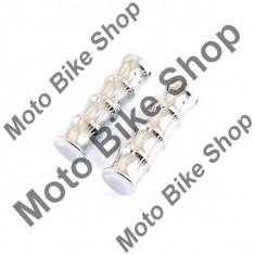 MBS Set mansoane ghidon moto-plastic, cromate, Cod Produs: MBS170117 - Mansoane Moto