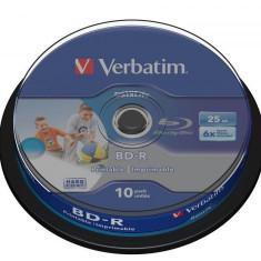 Verbatim BD-R SL Datalife 25GB 6x Wide Inkjet Printable, 10 buc
