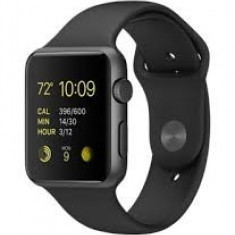 NOU - Apple Watch 42 mm /Stainless Steel/Sport Black Band - Smartwatch