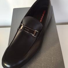 Pantofi PRADA, autentici, Made in Italy - Pantofi barbati Prada, Marime: 43.5, Culoare: Negru