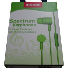 CASCA MAXELL SPECTRUM EARPHONE GREEN 303619.00.CN - Casti PC