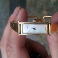 Ceas de dama gucci original - Ceas dama Gucci, Quartz, Placat cu aur