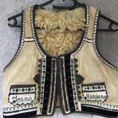 Ilic / Pieptar / cojocel din blana de oaie fara maneci- Marginimea Sibiului - Costum popular