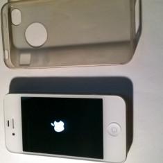 iPhone 4s Apple Alb +husă silicon, 16GB, Neblocat