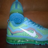 Oferta! Ultimele Marimi! Nike Air Max Flyknit! Marimi : 39, 40, 43, 44, 45 - Adidasi barbati Nike, Culoare: Din imagine, Textil