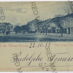 3547 - Litho, TURNU-SEVERIN - old postcard - used - 1899 - Carte Postala Oltenia pana la 1904, Circulata, Printata