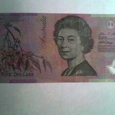 Bancnota Australia 5 $