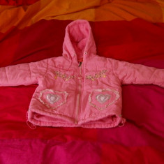 Geaca roz cu gluga, de toamna-iarna pentru fete 4-5 ani, Marime: Alta