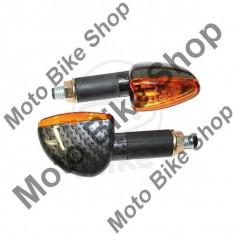 MBS Set semnalizari Shin Yo Mini Arrow, Carbonlook, 12V/21W, Cod Produs: 7050586MA - Semnalizatoare Moto