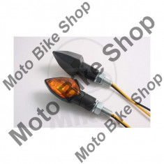 MBS Set semnalizari Shin Yo Kite, 12V/6W, brat scurt, prindere M8, negru, Cod Produs: 7050067MA - Semnalizatoare Moto