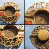 Scrumiera alama vintage Antalya Turcia, diam. 13 cm. - Arta din Metal