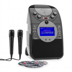 Auna ecran karaoke Camera CD USB SD MP3 inclusiv. 2 x Microfon 3 x CD + G - Echipament karaoke