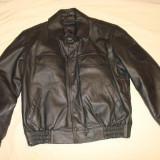 Geaca piele naturala, barbati, German Police Army Style /mesada/colectie/motor - Geaca barbati, Marime: 50, Culoare: Negru