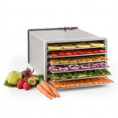 Klarstein uscator de fructe sacadat Pro 6 Alimente dehydrator dehydrator 630W 6 etaje din oțel inoxidabil - Detector metale