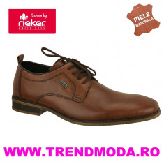 Pantofi barbati piele naturala RIEKER 10620-24 maro (Marime: 43)