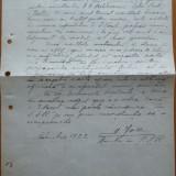 Adresa catre Pres. SSR a lui D. Iov imp. lui Beldiceanu, care l-a insultat, 1922 - Autograf