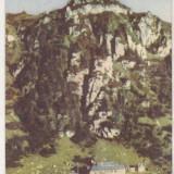 Bnk cp Muntii Bucegi - Cabana - circulata 1952 - timbru Porto - Carte Postala Muntenia dupa 1918, Printata