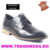 "Pantofi barbati piele naturala OTTO JONES bleumarin lac ""croco"" (Marime: 44)"