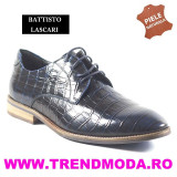 "Pantofi barbati piele naturala OTTO JONES bleumarin lac ""croco"" (Marime: 43)"