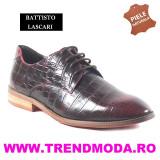 "Pantofi barbati piele naturala OTTO JONES rosu lac ""croco"" (Marime: 40)"