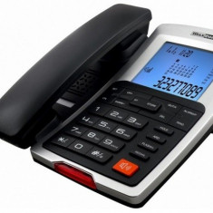 Telefon fix Maxcom KXT709 CLIP negru + argintiu