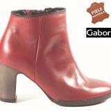 Botine dama piele naturala Gabor rosu (Marime: 36.5) - Ghete dama